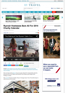Huffington Post - Ryanair Hostesses bare all for 2014 Charity Calendar