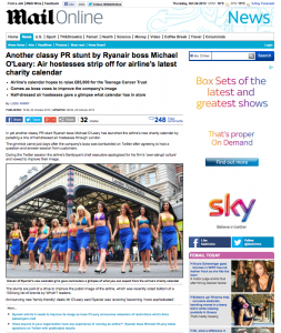 Mail Online - Another classy PR stunt by Ryanair boss Michael O'Leary