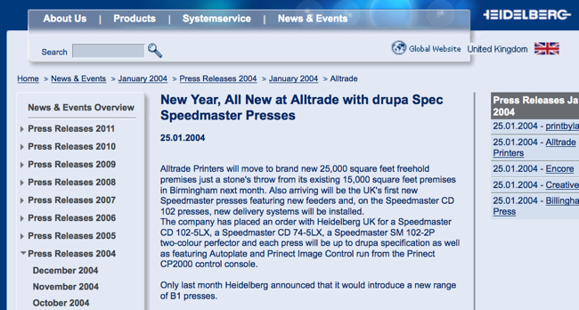 New Year, All New at Alltrade with drupa Spec Speedmaster Presses