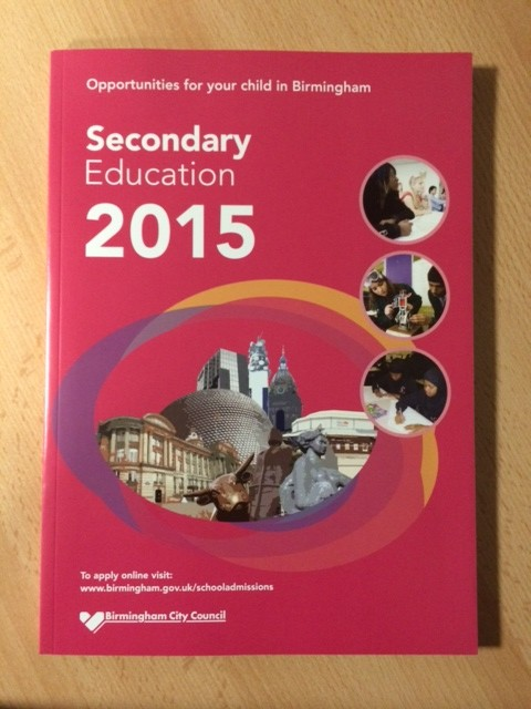 Perfect Bound 126 pages A4 Portrait Booklet for Birmingham City Council Secondary Education 2015