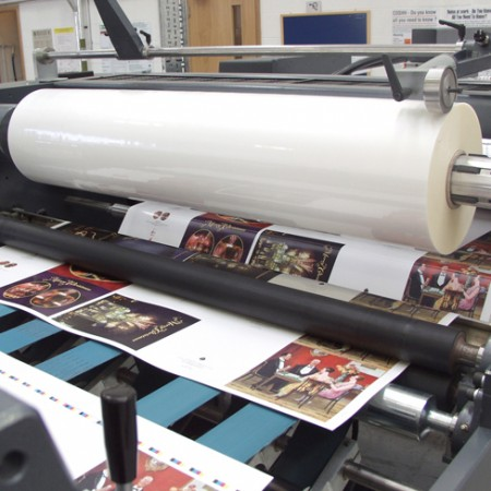 Gloss and Matt Laminator at Alltrade Printers Birmingham West Midlands UK